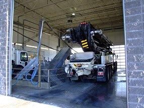 Dynamic Concrete Pumping truck in garage