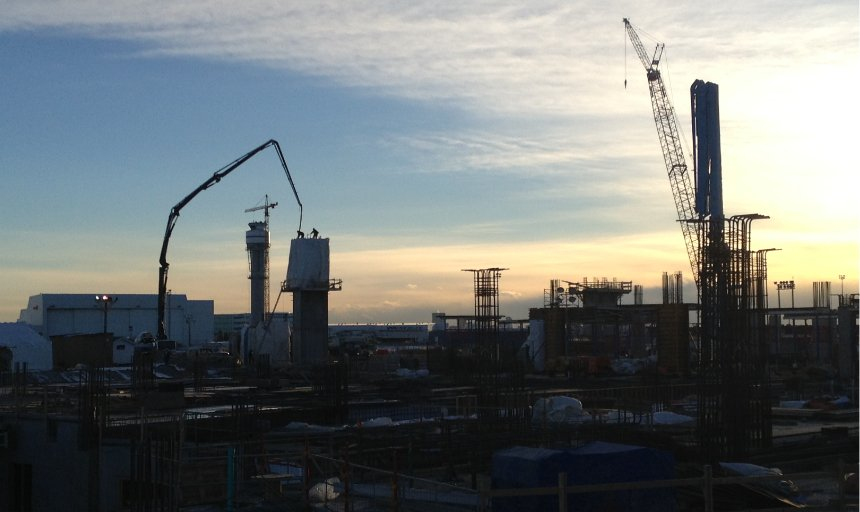 Dynamic Concrete Pumping working early on the YYC International Airport project