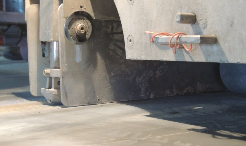 close-up image of soff cutting equipment used by Dynamic Concrete Pumping