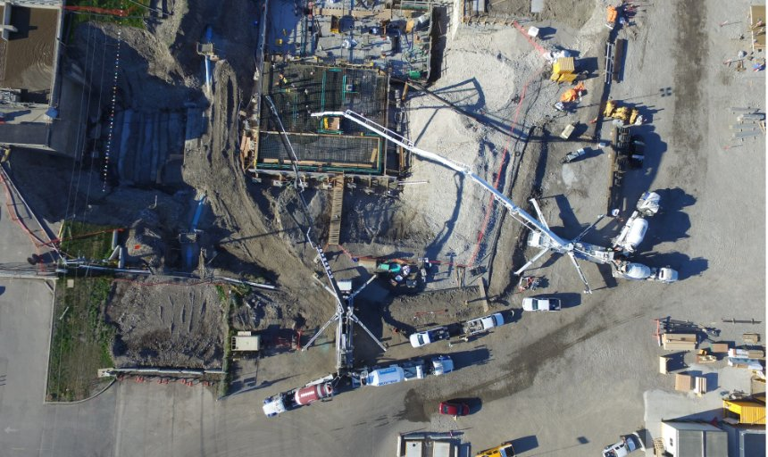 Dynamic Concrete Pumping at the Water Treatment Plant project