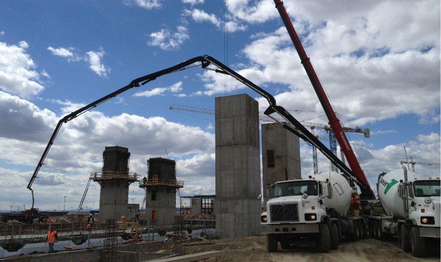 Dynamic Concrete Pumping using boom pumps to complete the Quarry Park Development job