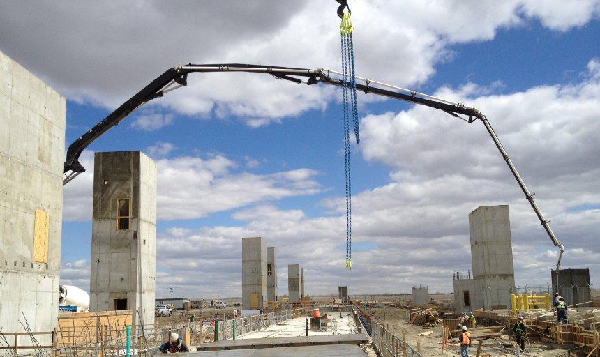Dynamic Concrete Pumping concrete pump extended at the Quarry Park Development project