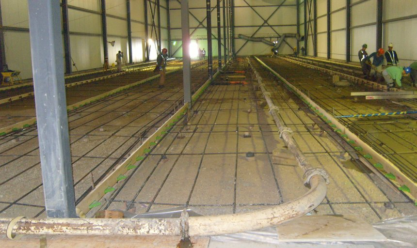Dynamic Concrete Pumping beginning a superflat floors project