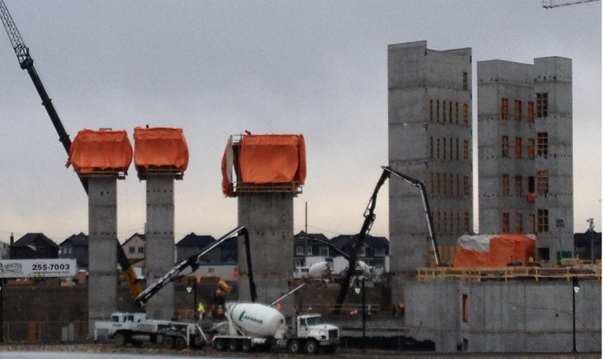 Dynamic Concrete Pumping working on the Quarry Park Development project
