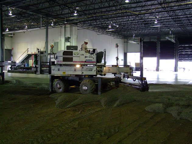 Dynamic Concrete Pumping contractor using laser screed equipment on a project