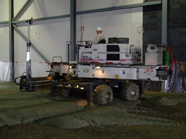Dynamic Concrete Pumping laser screed contractor using equipment to complete a project