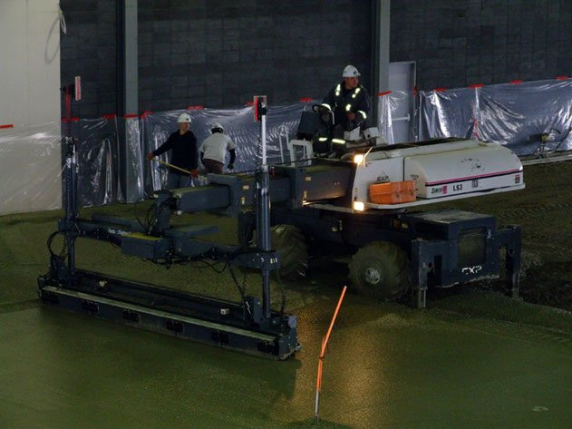 Dynamic Concrete Pumping laser screed contractor operating laser screed equipment