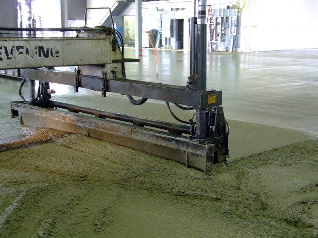 Dynamic Concrete Pumping laser screed machine leveling concrete