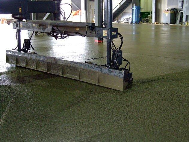 Dynamic Concrete Pumping machines precisely placing slab-on-grade concrete floors