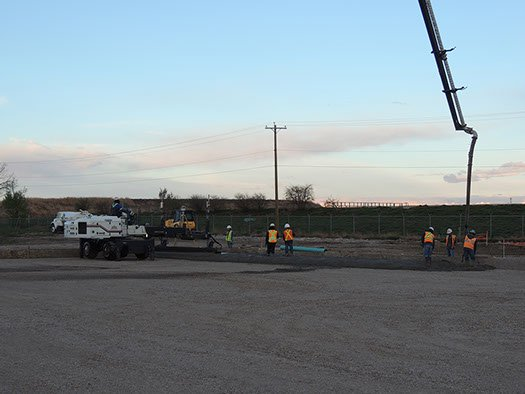 Dynamic Concrete Pumping contractors using laser screed equipment to complete a project