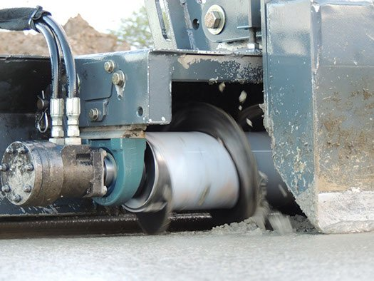 Dynamic Concrete Pumping laser screed equipment producing flat, strong, precise concrete slabs