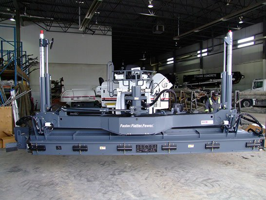 front view of Dynamic Concrete Pumping laser screed equipment