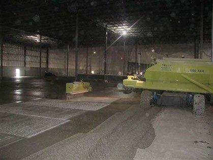 concrete hardener spreader in Dynamic Concrete Pumping fleet evenly spreading concrete