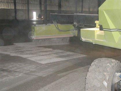 Dynamic Concrete Pumping concrete hardener spreader evenly spreading material