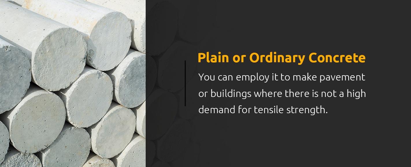 Plain or Ordinary Concrete