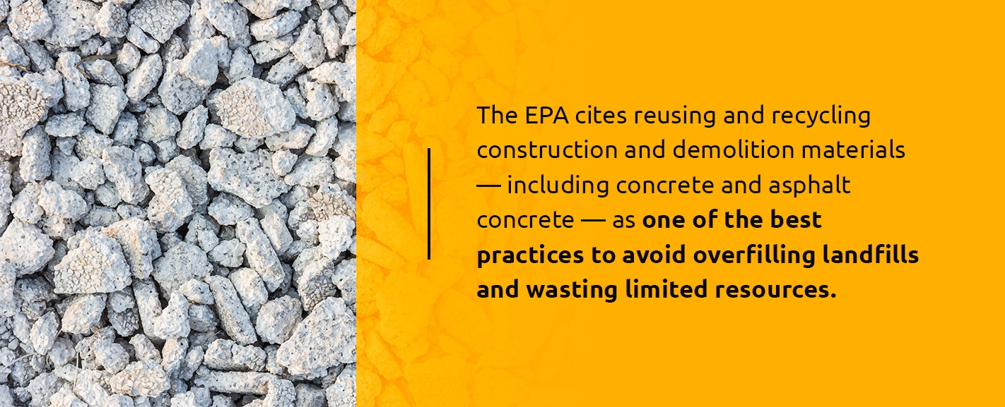 Environmental Benefits of Recycled Concrete