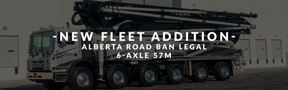 Dynamic Concrete Pumping has added a new 6-axle 57M boom pump to their fleet