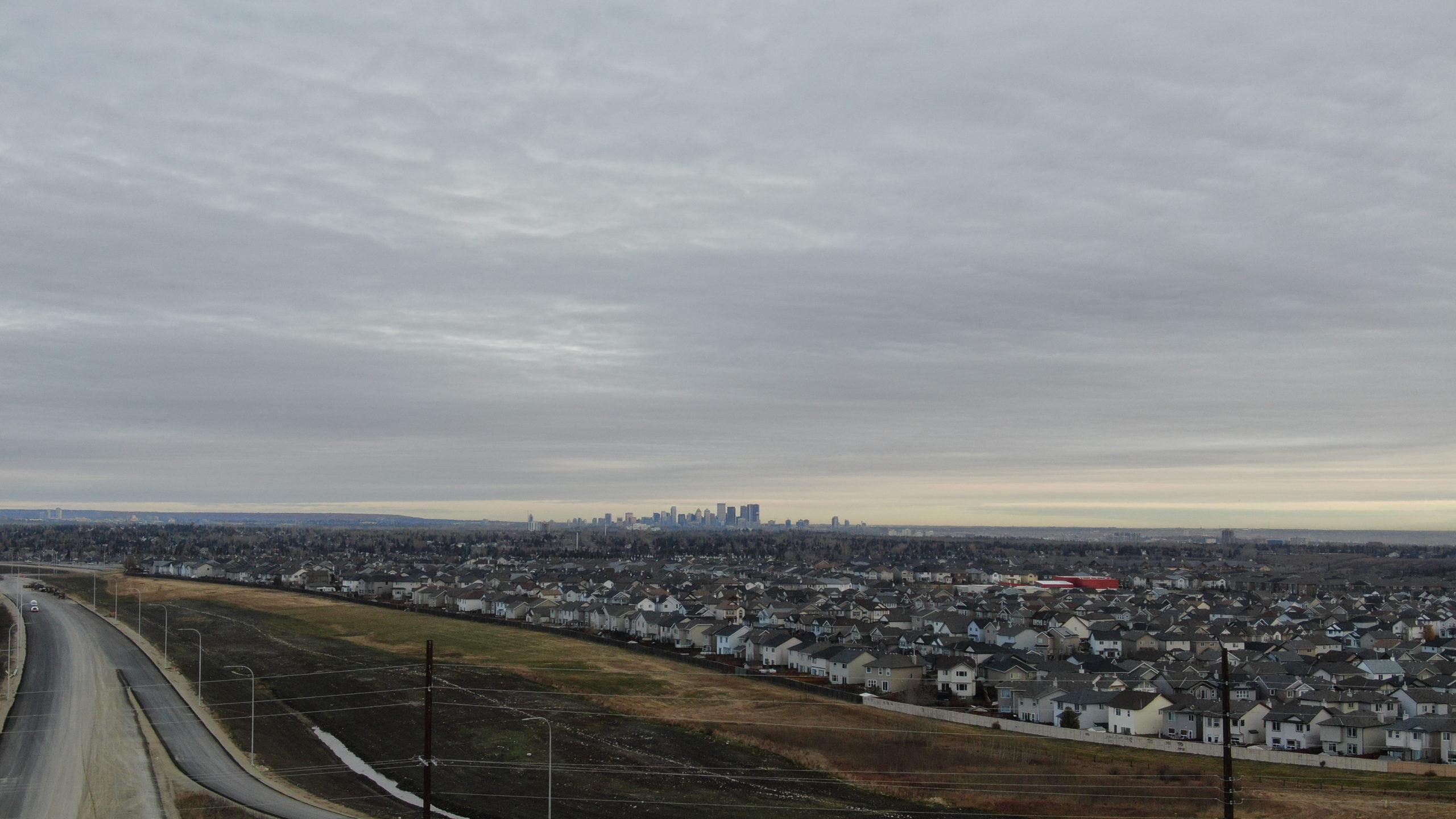 suburbs of Calgary near the SW Calgary Ring Road