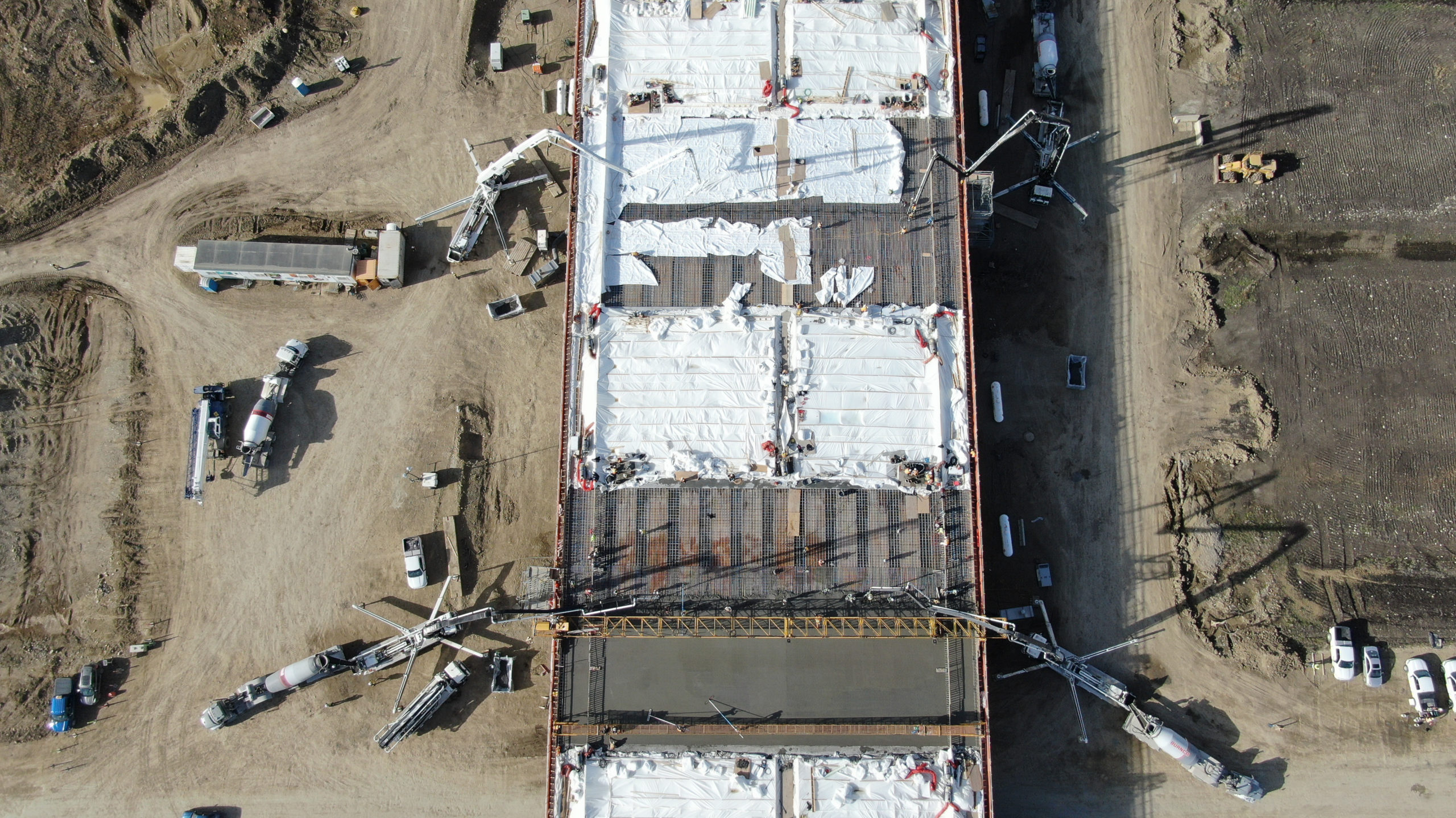 Dynamic Concrete Pumping hard at work on the SW Calgary Ring Road project