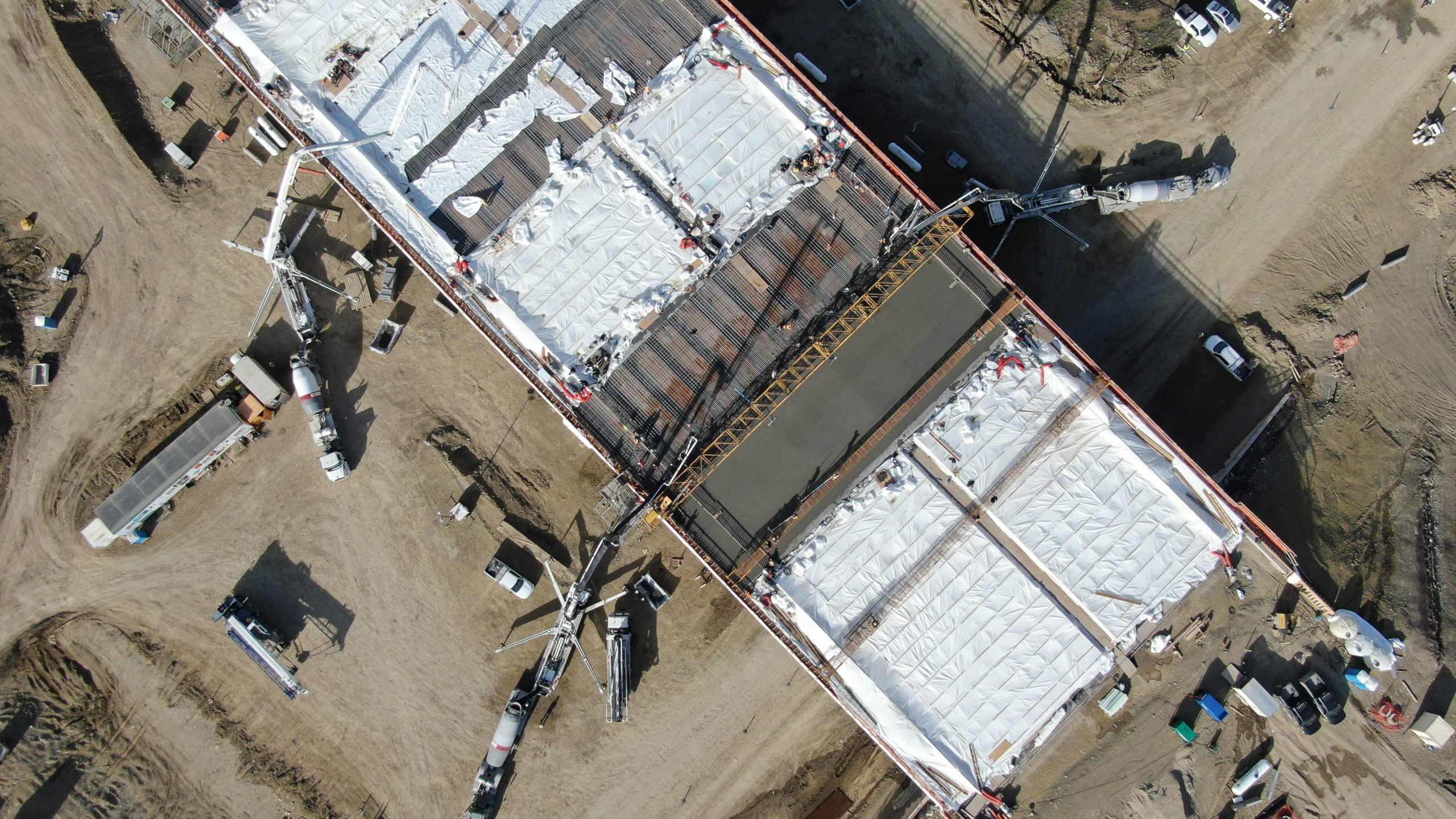 SW Calgary Ring Road project being completed by Dynamic Concrete Pumping