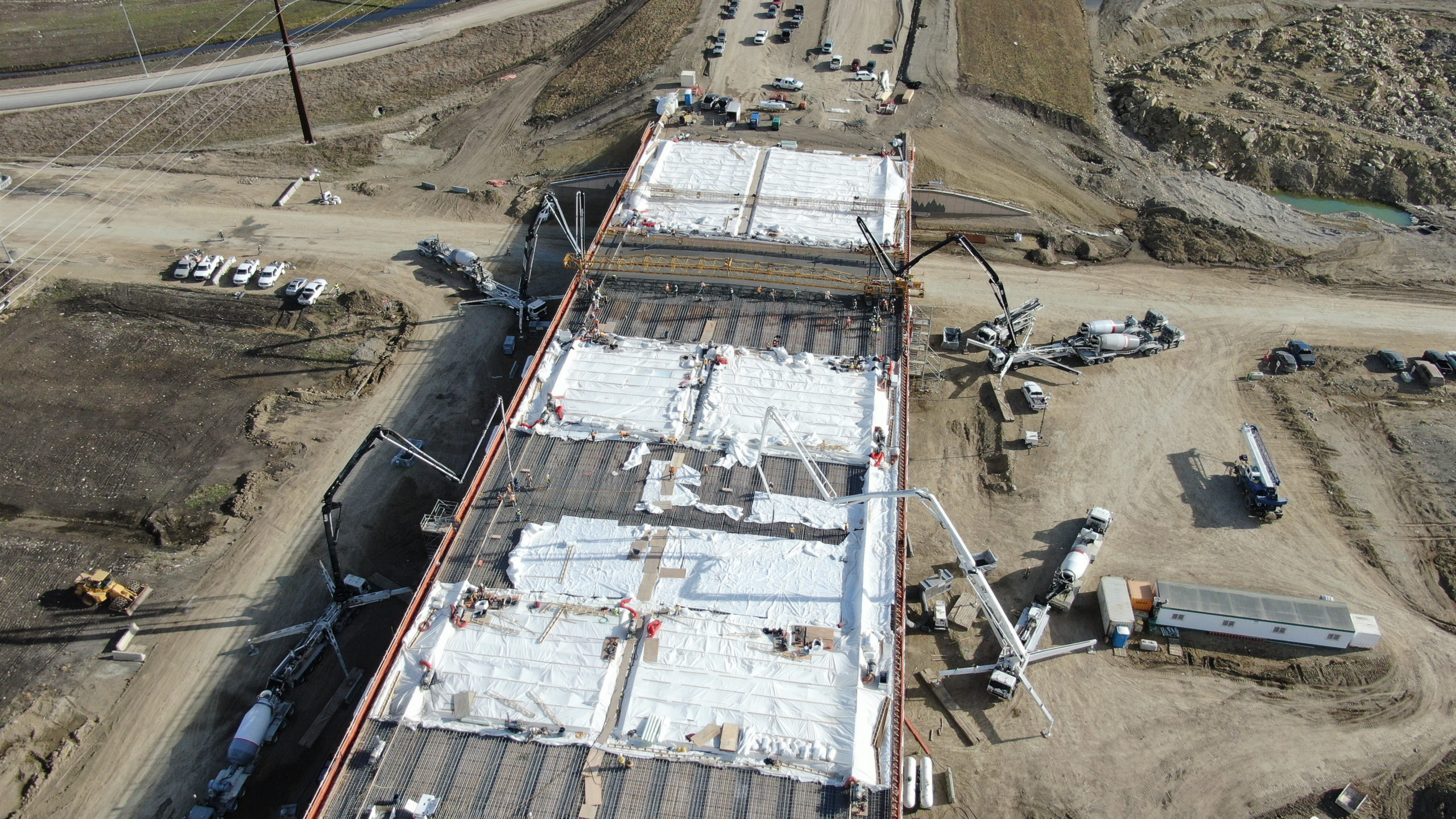 Dynamic Concrete Pumping using 4 concrete pumps at the SW Calgary Ring Road project