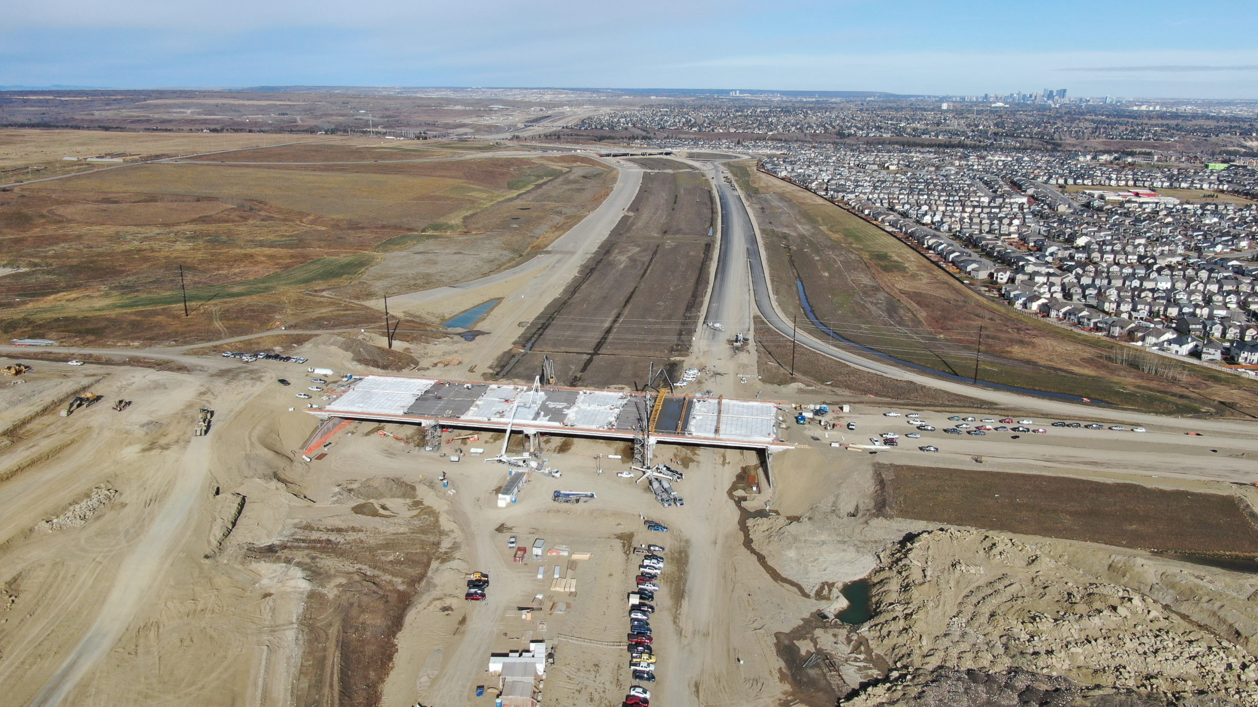 Dynamic Concrete Pumping completing the SW Calgary Ring Road project