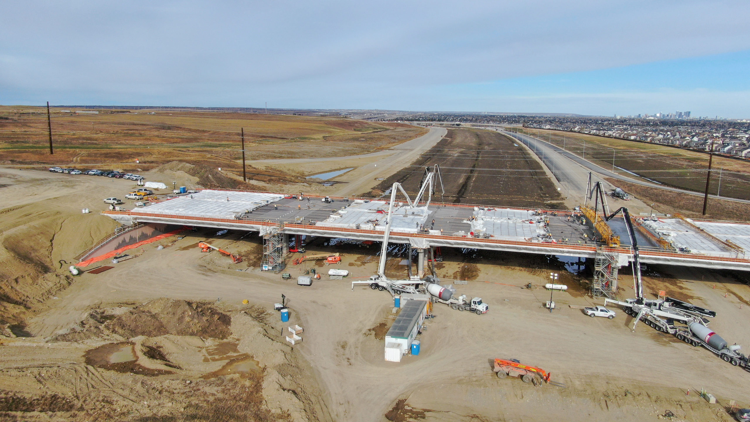 overview of Dynamic Concrete Pumping working on the SW Calgary Ring Road project